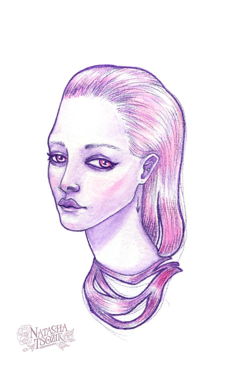 Pink girl by Natasha Tsozik