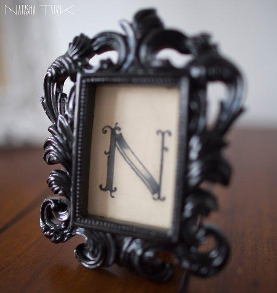 Custom Letter Tattoo in Victorian Frame
