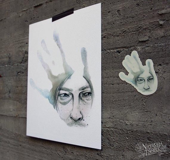 Death Stranding Print on White Textured Paper