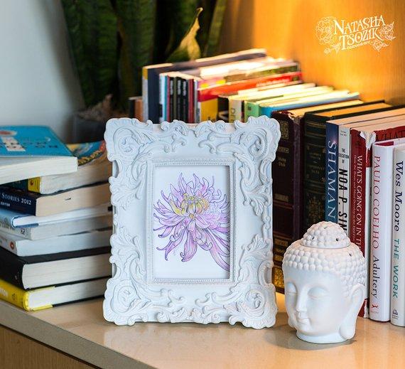 Watercolor Chrysanthemum Original on Watercolor Paper